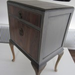 Upcycled bedside cabinet